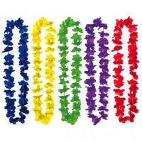 Boxed Multi-Colored Fabric Leis