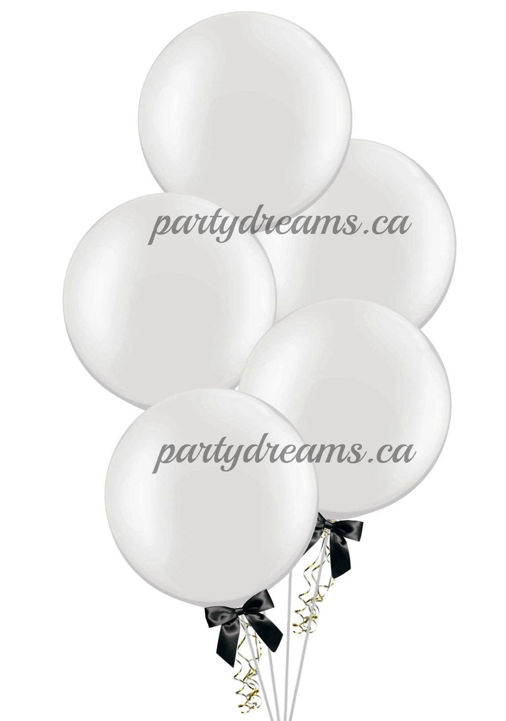"5 of  24"" Round Balloons Bouquet"