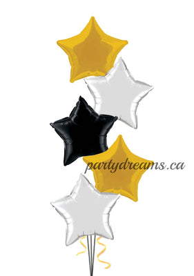 5 Foil Stars Balloon Bouquet