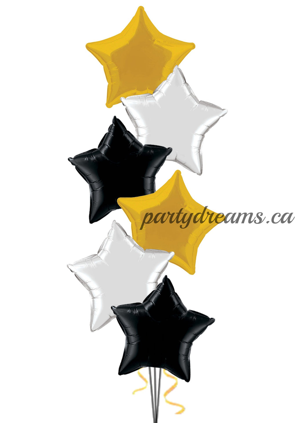 6 Foil Stars Balloon Bouquet