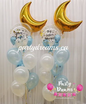 Love You To The Moon And Back ~ Baby Shower Bespoke Bubble Balloon Bouquet Set #23
