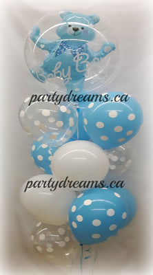 Baby Boy Bubble Balloon Bouquet #BB23