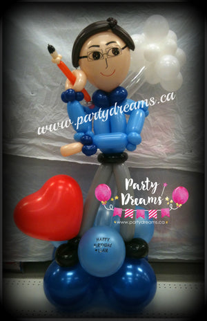 Balloon Sculpture - Birthday Creative Man (Medium) #BP24