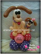 Balloon Animal - Baby Puppy with Mom (Medium) #AM8