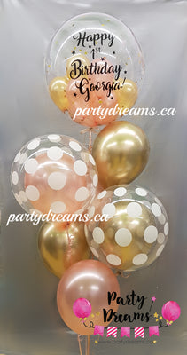 Customized Vinyl Bespoke Bubble Balloon Bouquet #BA07