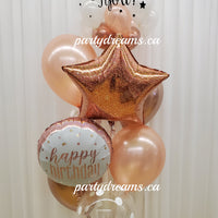 Star Of The Day! ~ Customized Vinyl Bespoke Bubble Balloon Bouquet #38