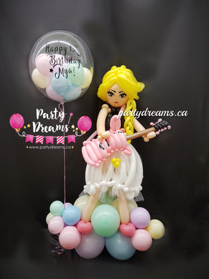 Balloon Sculpture -  Rockstar Girl (Medium) #BP80