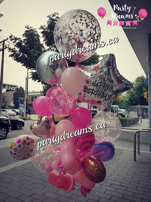 Surprise! Jumbo Birthday Balloon Bouquet #S8