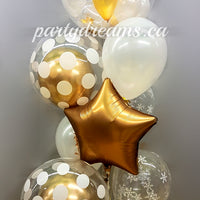 """Snowy Hug"" Christmas Bubble Balloon Bouquet #CHS01"