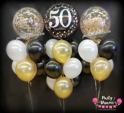 Confetti Bubble Birthday Balloon Bouquets Set #CH01