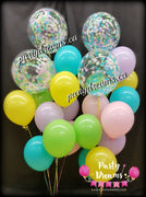 Confetti Bubble Balloon Bouquets Set #BL08