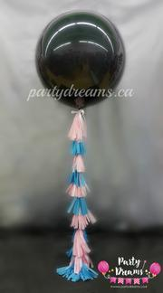 "Gender Reveal 36"" Round Balloons Bouquet with Tassel - GRT36"