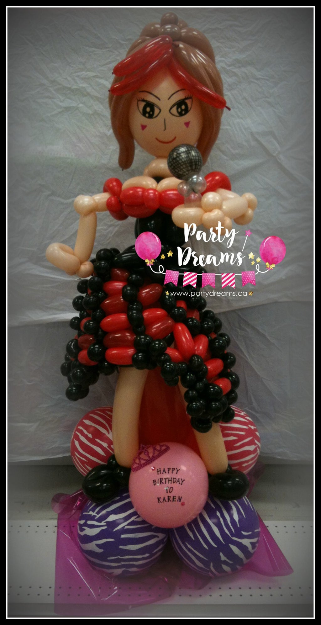 Balloon Sculpture - Singing Lady (Medium) #BP4