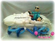 Balloon Sculpture - Birthday Speed Boating Man (Medium) #BP48