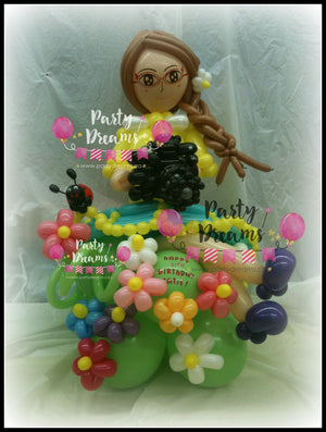 Balloon Sculpture -  Garden Girl with Camera (Medium) #BP7