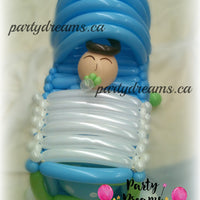 Welcome Baby Boy in Basket (Medium) #BBS9