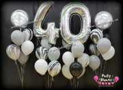 Jumbo Number Birthday Balloons Set #MB1