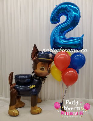 Airwalker Paw Patrol Birthday Balloon Bouquet Set #32