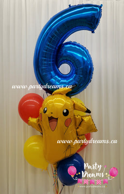 Pokemon Birthday Balloon Bouquet #C40