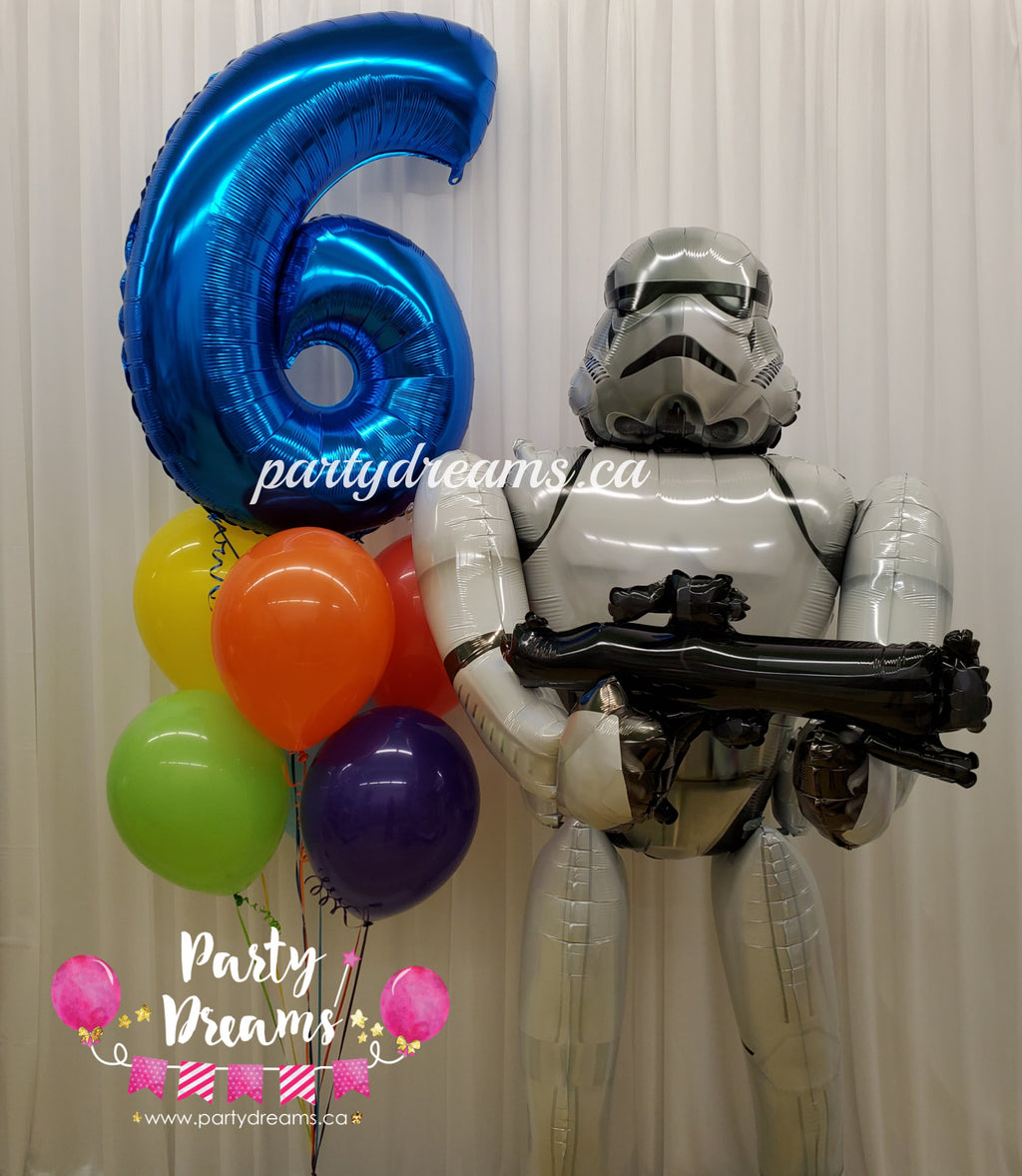 Airwalker Star Wars Birthday Balloon Bouquet Set #33