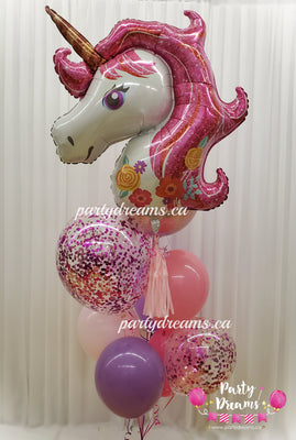 Deluxe Unicorn Birthday Balloon Bouquet #28