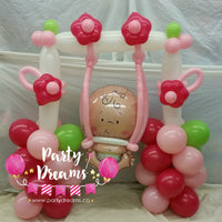 Welcome Baby Girl on Swing (Medium) #BBS11