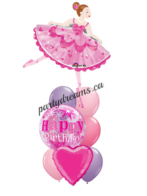 Ballerina Princess Birthday Balloons Bouquet #KB5