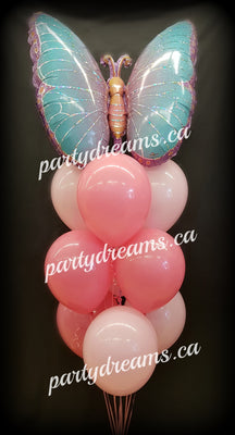 Butterfly Birthday Balloon Bouquet #GBB01