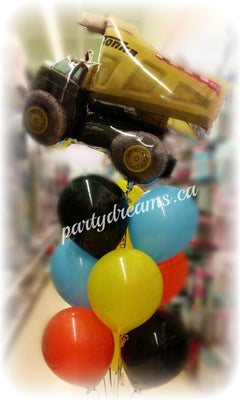 Construction Truck Birthday Balloons Bouquet #KB12