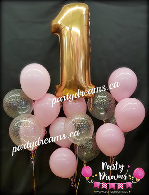 First Birthday Balloon Bouquet Set #FB11