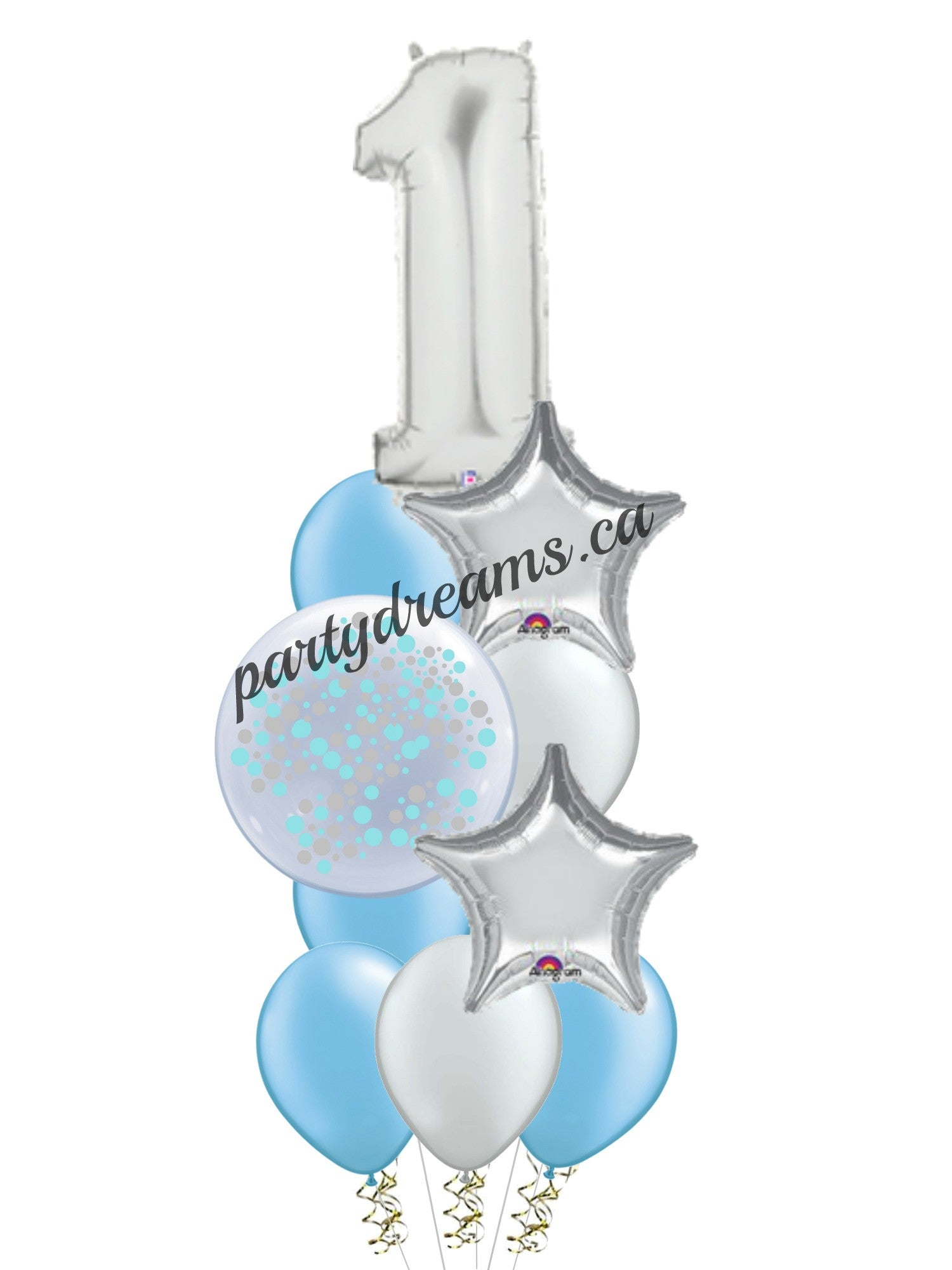 First Birthday Balloon Bouquet -4