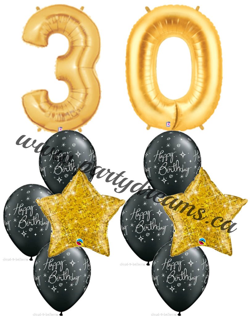 Milestone Jumbo Number Birthday Balloon Bouquets Set #BDH10