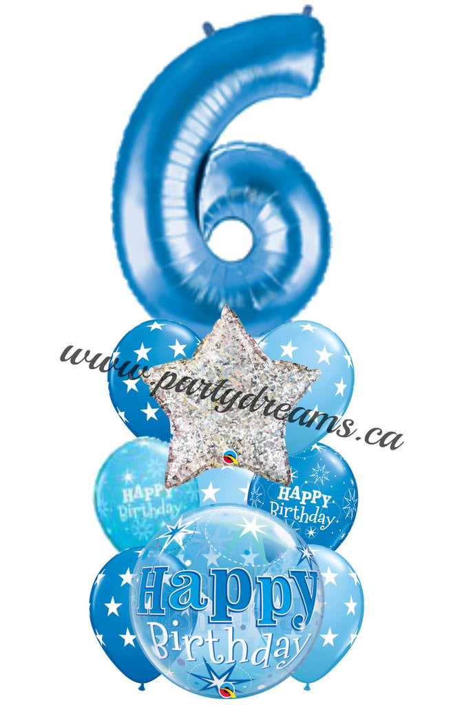 Jumbo Number Birthday Balloons Bouquet #BDH12