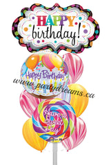 Birthday Balloons Bouquet #BDH9