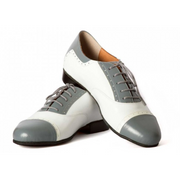Clasico - Gray And White Leather-DNI- Axis Tango - Best Tango Shoes