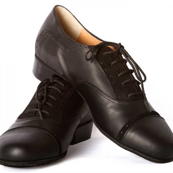 Clasico - Black Leather With Suede Detail-DNI- Axis Tango - Best Tango Shoes