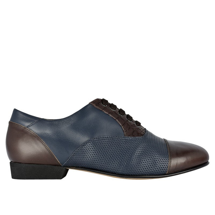 106 - Oxford Blu Brown | Axis Tango - Best Tango Shoes