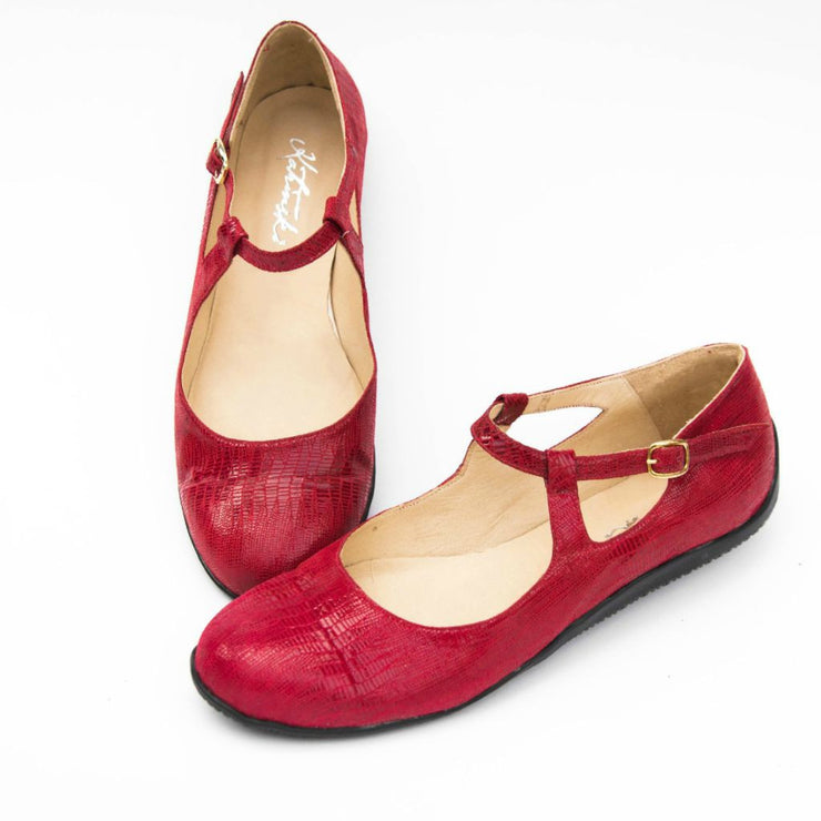 Red Lollipop - Red Stamped Leather by Katrinski - Imported from Italy, Argentina and beyond: best tango shoes and tango apparel. Beautiful, comfortable, premium quality!