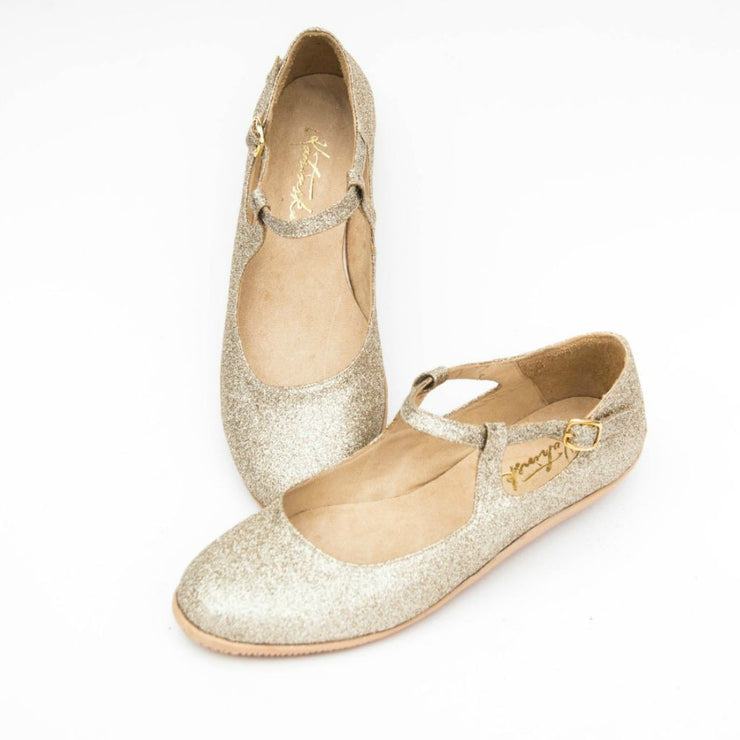 Sunniva - Gold Glitter by Katrinski - Imported from Italy, Argentina and beyond: best tango shoes and tango apparel. Beautiful, comfortable, premium quality!