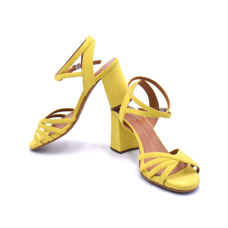 Morena Street - Lemon Suede 75-Madame Pivot- Axis Tango - Best Tango Shoes