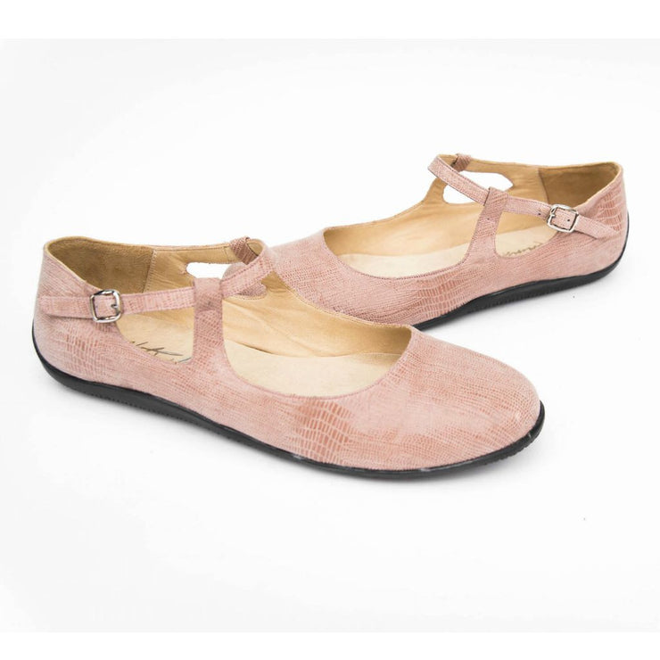 Au Naturel - Blush Stamped Leather | Axis Tango - Best Tango Shoes