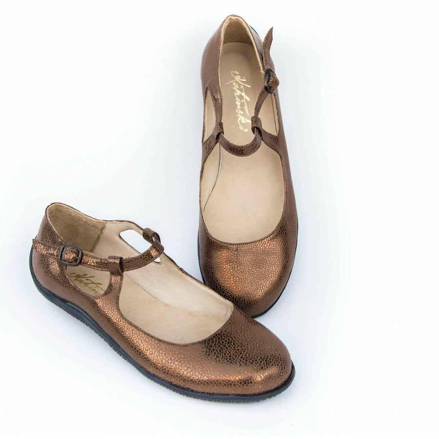 Bronze Goddess - Bronze Stamped Leather by Katrinski - Imported from Italy, Argentina and beyond: best tango shoes and tango apparel. Beautiful, comfortable, premium quality!