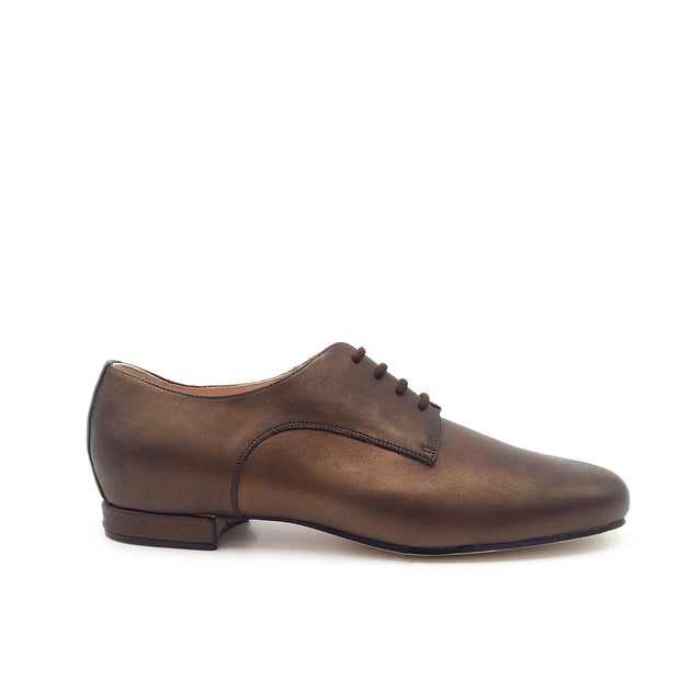 Derby - Bronze Pearlised Leather | Axis Tango - Best Tango Shoes