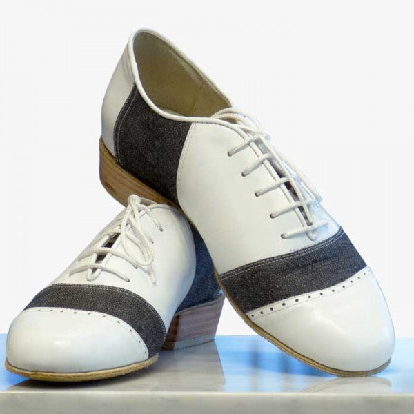 Rock - White Leather And Blue Jeans-DNI- Axis Tango - Best Tango Shoes