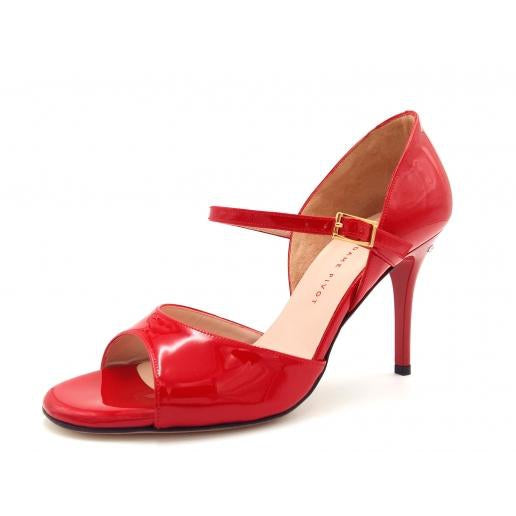 Gloria - Red Patent Leather (8.5cm) by Madame Pivot - Imported from Italy, Argentina and beyond: best tango shoes and tango apparel. Beautiful, comfortable, premium quality!