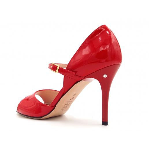 Gloria - Red Patent Leather (8.5cm) | Axis Tango - Best Tango Shoes
