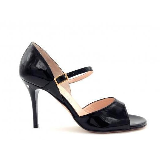 Gloria - Black Patent Leather (8.5cm) | Axis Tango - Best Tango Shoes