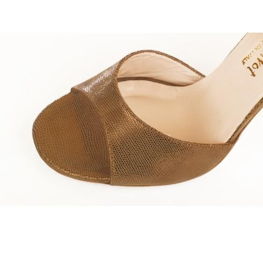 Classico - Bronze Tejus Leather (7cm, 8.5cm) | Axis Tango - Best Tango Shoes