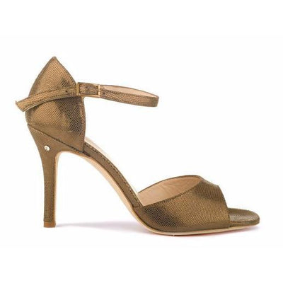 Classico - Bronze Tejus Leather (7cm, 8.5cm) by Madame Pivot - Imported from Italy, Argentina and beyond: best tango shoes and tango apparel. Beautiful, comfortable, premium quality!