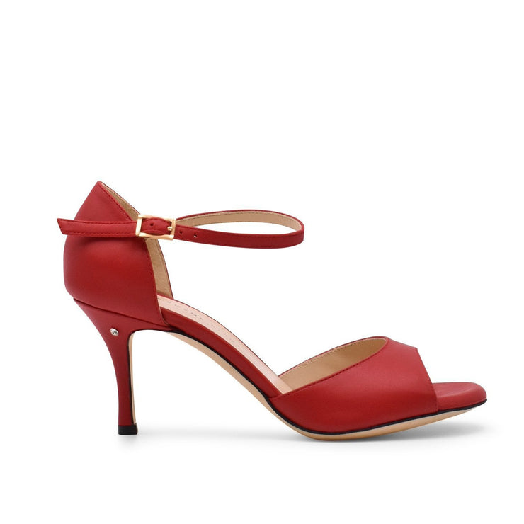 Classico - Red Leather (7cm, 8cm, 8.5cm) | Axis Tango - Best Tango Shoes